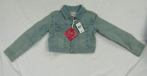 LuLu Luv Girls Size Small (6/6X) Crop Denim Blue Jean Jacket New NWT