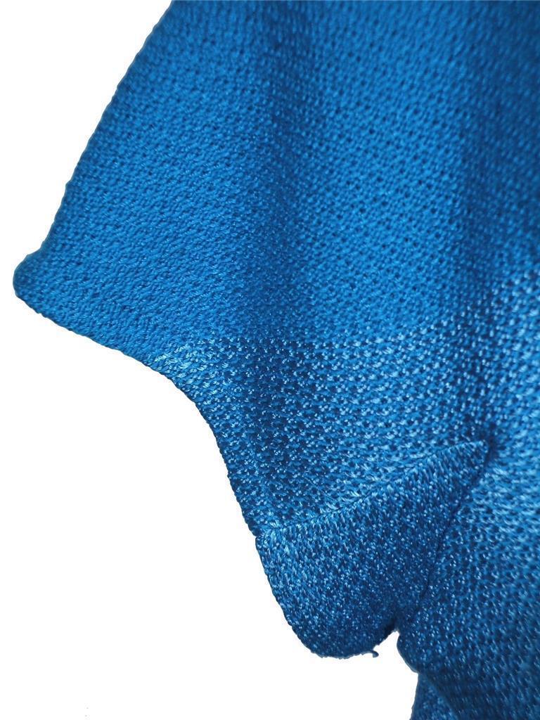 NWT ST. JOHN Knits Capri bluee Multi Novelty Knit S S S S Shift Tank Dress sz 8  895 4a5166