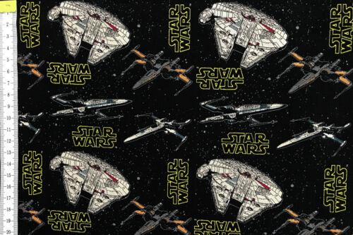 100/% Cotton Star Wars Fabric Millennium Falcon