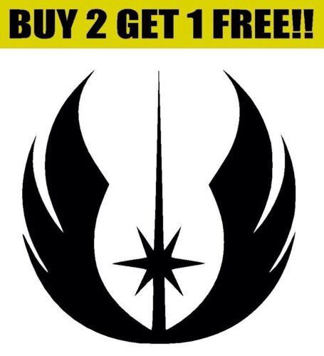 Ordre Jedi Symbol Logo Autocollant Vinyle Autocollant Pare-chocs Fenêtre Mur Star Wars