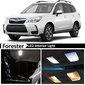 Details About 8x White Interior Led Lights Bulbs Package Kit For 2017 Subaru Forester