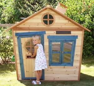 6x5 Redwood Mansion Wooden Playhouse Childrens Garden Play Outdoor