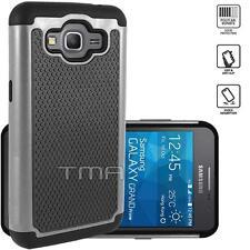 Samsung Galaxy Grand Prime SM-G530W G530H Rugged Dual Layer Hybrid Case - Gray