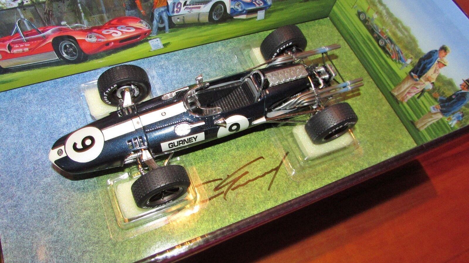 Carousel 1 1967 Gurney SIGNED Eagle Westlake F1 race car Nurburgring Mason 1 18