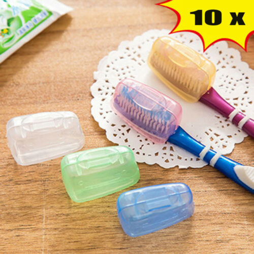10x Toothbrush Head Cover Holder Travel Camping Case Protect Brush Cap Case NP2X
