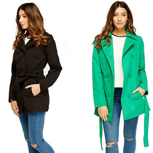 Ladies-Women-Trench-Coat-Mac-Fashion-Button-Tie-Up-Double-Belted-Breasted-Jacket