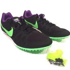 Nike Racing Rival M Multi-Use Men's Sz 10 Black Purple Green Track Spikes/Shoes