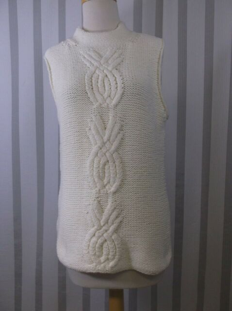 6c58c3ef36519 Tommy Bahama sleeveless sweater NWT Extra Large 16 off white cable heavy  knit