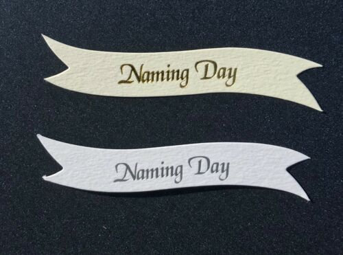 Día de nombres Banners//Tarjeta Toppers en placas de calidad 300gsm pk10