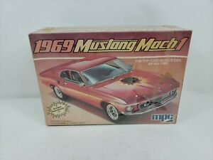 Vintage-MPC-1-25-Scale-1969-Ford-Mustang-Mach-I-Model-Car-Kit-New-in-Box