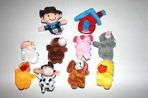 Nursery Rhymes Old McDonald Had Farm Finger Puppets Fairy Tale Creative Soft Toy