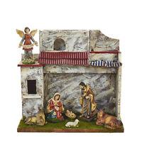 Kurt S. Adler 11 Polyresin 8 Piece Musical Nativity Set W/ Stable & 7 Figures