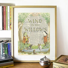 Wind In The Willows Classic Book Cover Mock Dictionary Page Art Print Toad Ratty