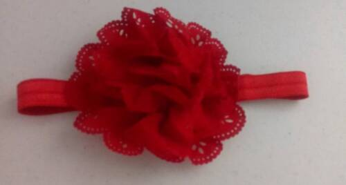 Handmade Elastic Soft Flower Baby Headband ~ Fits 6-18 mths  FREE Shipping #H19