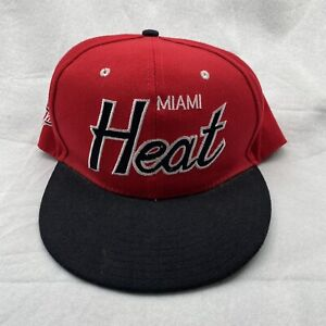 Miami Heat NBA Hat Mitchell & Ness Snapback Red And Black Basketball