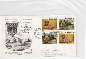 Kanada 519-20 FDC INDIANER KULTUR CANADA INDIAN CULTURE BRIEF COVER