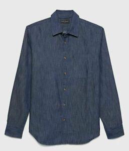 Men-039-s-Banana-Republic-Slim-Fit-Cotton-TENCEL-Chambray-Shirt-Size-X-Large