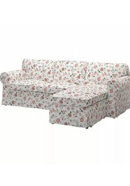 IKEA Ektorp SLIPCOVER 2 Seat Loveseat Sofa w Chaise Cover RISANE NATURAL Beige