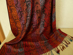 Schals und Tücher JACQUARD SCHAL 70x190 Paisley Muster Stola bitte auswählen