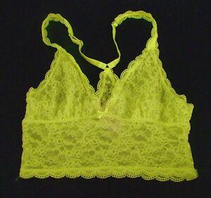 VICTORIA SECRET Body Bralette S M L Deep V Plunge Crop White Lace NWT