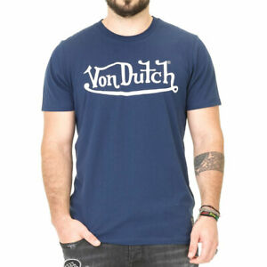 Von-Dutch-Logo-T-shirt-Azul