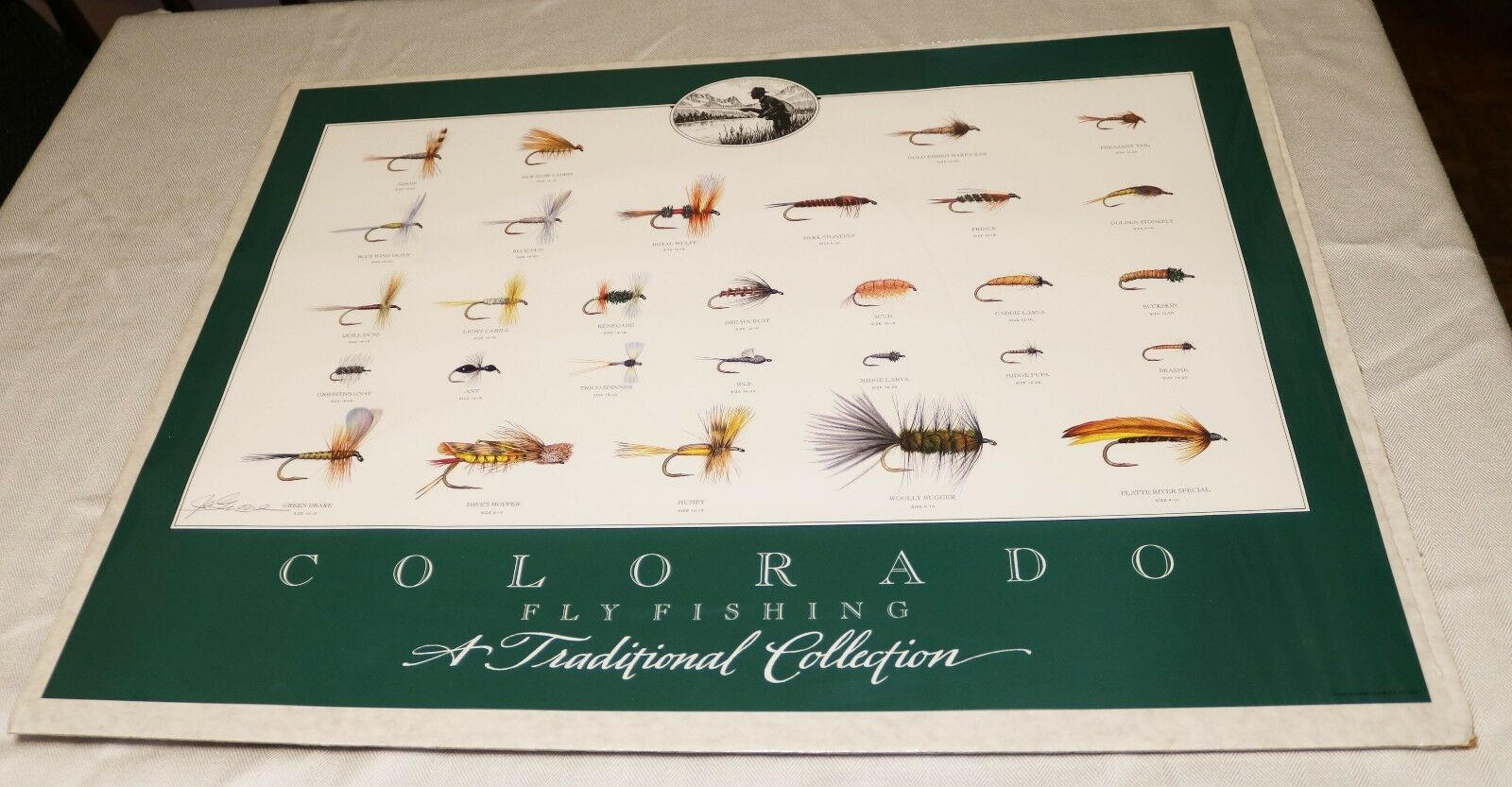 Signed 1st Edition Print of colorado  Fly Fishing Trout Flies Jay Moore GORGEOUS  free shipping & exchanges.