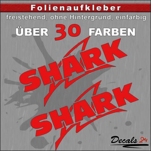 15 cm 2er Set-Shark Sponsors-diapositives Autocollant Voiture//Moto 30 Couleurs