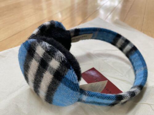 Burberry Nova Check Blue Cashmere Earmuffs