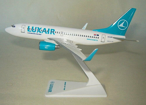Luxair Luxemburgo boeing 737-700 1:200 avión modelo nuevo con winglets LX-lgo