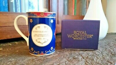 Royal Worcester 60th Anniversary Queen Elizabeth II Coronation Mug *Brand New*