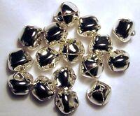 Lot 250 Bright Shiny Silver Jingle Bells 20mm (3/4) Metal Craft Holiday Bells
