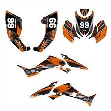 TRX300EX Graphics Sticker kit for Honda  2007 - 2013 ATV  #3333 Orange