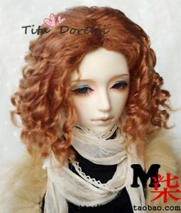Bjd Doll Wig 1//3 8-9 Dal Pullip AOD DZ AE SD DOD LUTS Dollfie brown Toy Hair