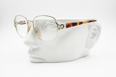 Sensibile Vintage 90s Eyeglass Frame Optilens Golden & Tortoise, Designer Temples, Nos New