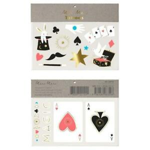 Meri Meri Magic Large Tattoos Pack of 2 Temporary Children's Cards Bunny Wand