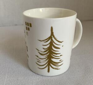 Starbucks-Mug-White-With-Gold-Tree-Blocks-2014-Starbucks-Coffee-Co-12-Fl-Oz