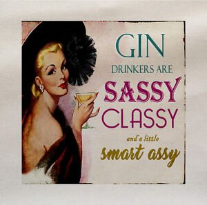 Gine-bevitore-sassy-classy-Tessuto-Di-Cotone-Panel-Fare-Un-Tappezzeria-Cuscino