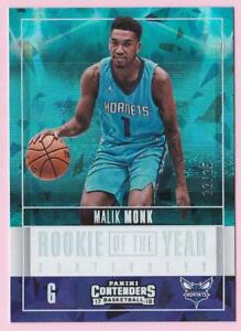 MALIK MONK RC 2017-18 PANINI CONTENDERS ROOKIE OF THE YEAR CRACKED ICE #22/25