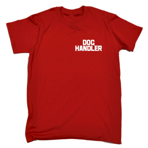 Dog handler al seno e Schiena Uomo T-Shirt Tee TRAINER uniforme Workwear Walker