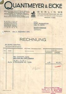 Alte Rechnung 1941 Quantmeyer Und Eicke Berlin Gardinen Möbel Ebay