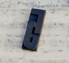 Huge Number 5 Rare Wood Type Letterpress Printing Block Woodtype Font Antique