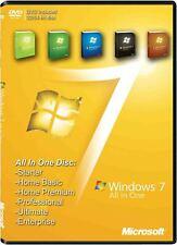 Windows 7 32/64 Bit Recovery Reinstall Repair Disc Home