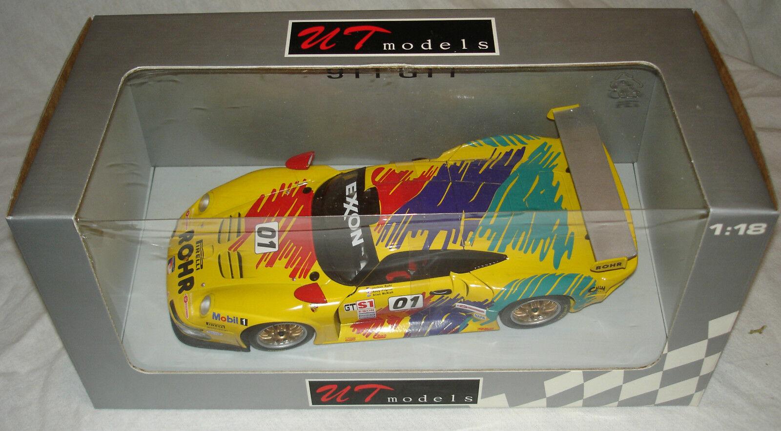 UT Models 1 18 1997 Porsche 911 GT1 ROHR Racing Allan McNish & Andy Pilgrim NEW
