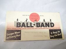 Old Advertising Ink Blotter Ball Band Maute Caldwell Shoes Concordia Kansas