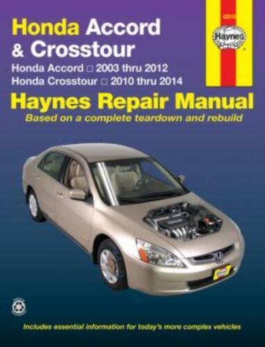 Haynes Workshop Manual Honda Accord 2003-2012 Honda Crosstour 2010-2014 Repair