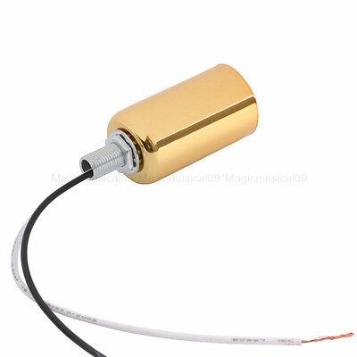 Gold E14 Ceramic Screw Base Round Light Bulb Lamp Socket Holder Adapter