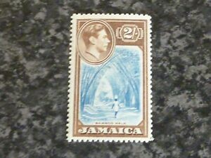 JAMAICA-POSTAGE-STAMP-SG131-2-BLUE-amp-CHOCOLATE-UN-MOUNTED-MINT