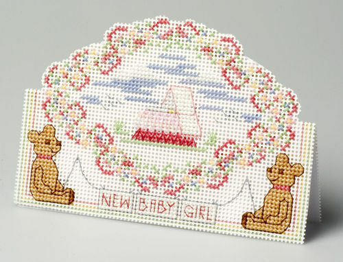 The Nutmeg Company Baby Girl 3D Counted Cross Stitch Kit 14 Count
