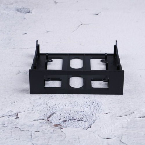 "3.5/"" to 5.25/"" Drive bay computer case adapter mounting bracket usb hub flo WW"
