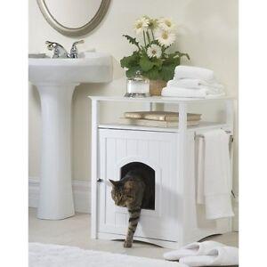 Litter Box Furniture Hidden Cat Dog Bed Bathroom Stand